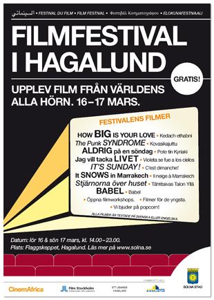 Affisch: filmfestival i Hagalund.